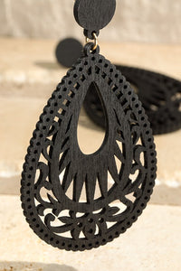Talullah Filigree Earrings (Black)