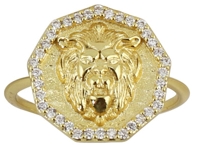 Lion Charm Ring