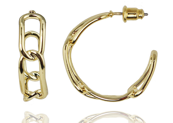 Chain Hoop Earrings