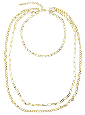 3-Strand Layered Necklace