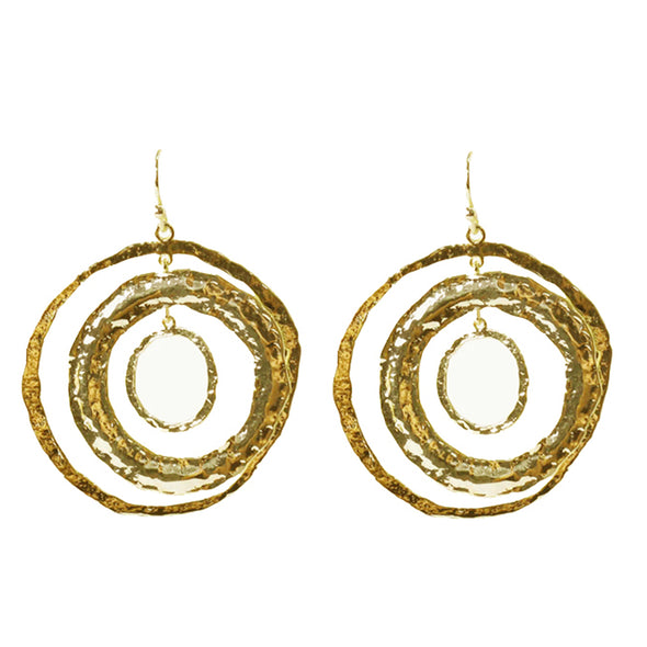 Carolina Hammered Circle Earrings