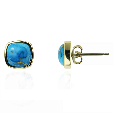 Carolina Square Stud Gemstone Earrings