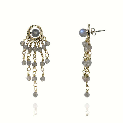 Camila Waterfall Labradorite Dangle Earrings