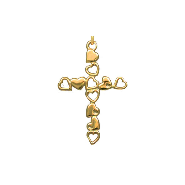 Cross and Hearts Adjustable Necklace