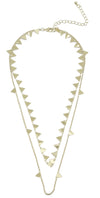 2-Strand Triangle Necklace