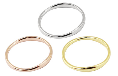 Mixed Metal 3 Band Ring Set