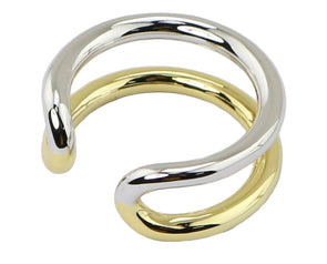 Mix metal Circle Open ring