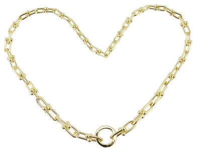 U Shaped Chain Necklace