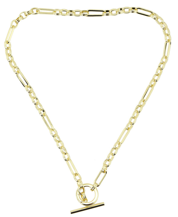 Oval Rectangle Chain Link Necklace