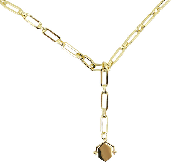 Hexagon Reversible Pendant Necklace