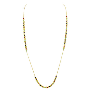 Isabella Multi-Color Station Necklace