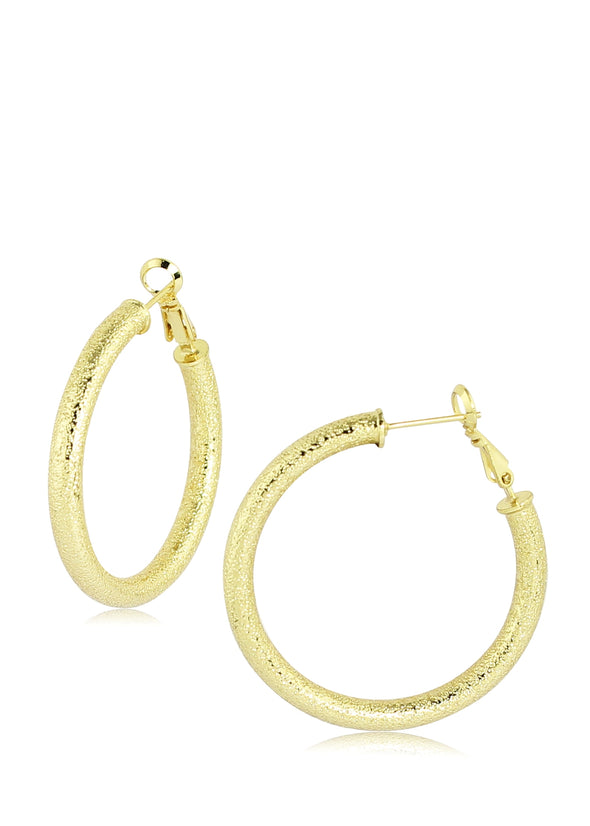 Round Shape Textured Earrings
