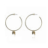 Fernanda Nariguera Charm Hoop Earrings