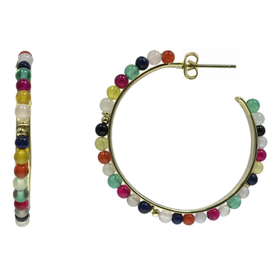 Carolina Beaded Open-Hoops