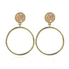 Natalia Front Facing Hoop Earrings