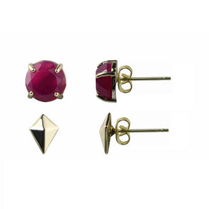 Amalia Gemstone Stud Earring Set