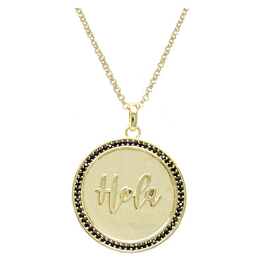 Maria Hola Pendant Adjustable Necklace