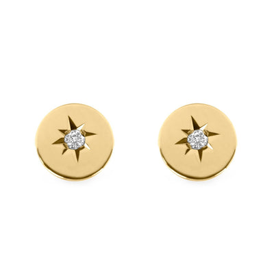 stud earrings with white diamonds ILU
