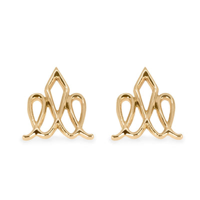 Gold Crown Earrings by HOTCROWN