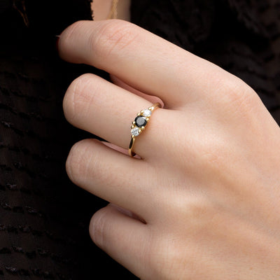 three stone wonder engagment ring