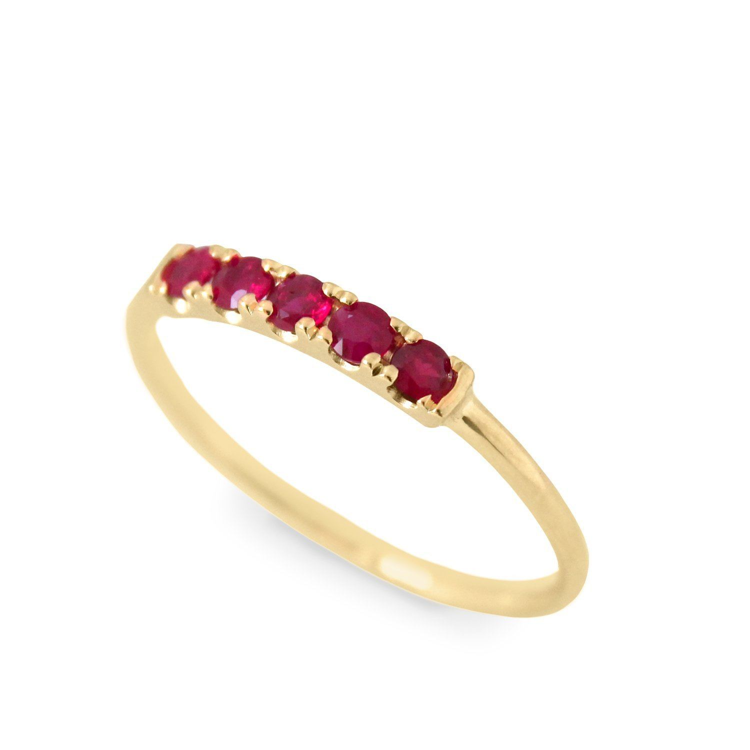 gold ring with rubies