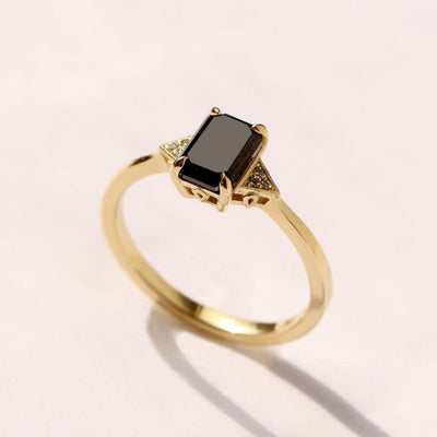 emerald cut black diamond