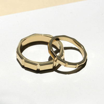 gold wedding band for men