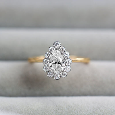 pear shaped diamond ring HOTCROWN