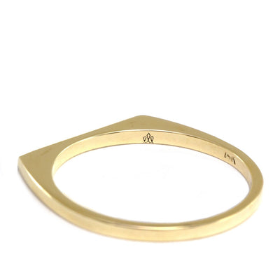 thin wedding band with diamond