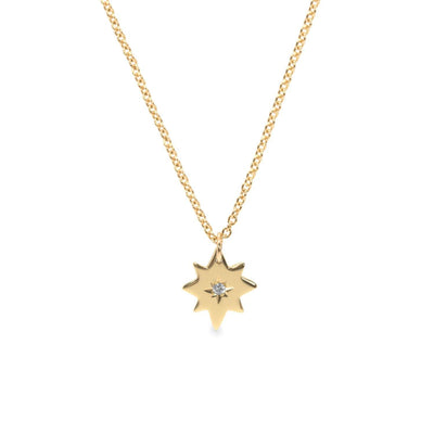 star pendant with white diamond