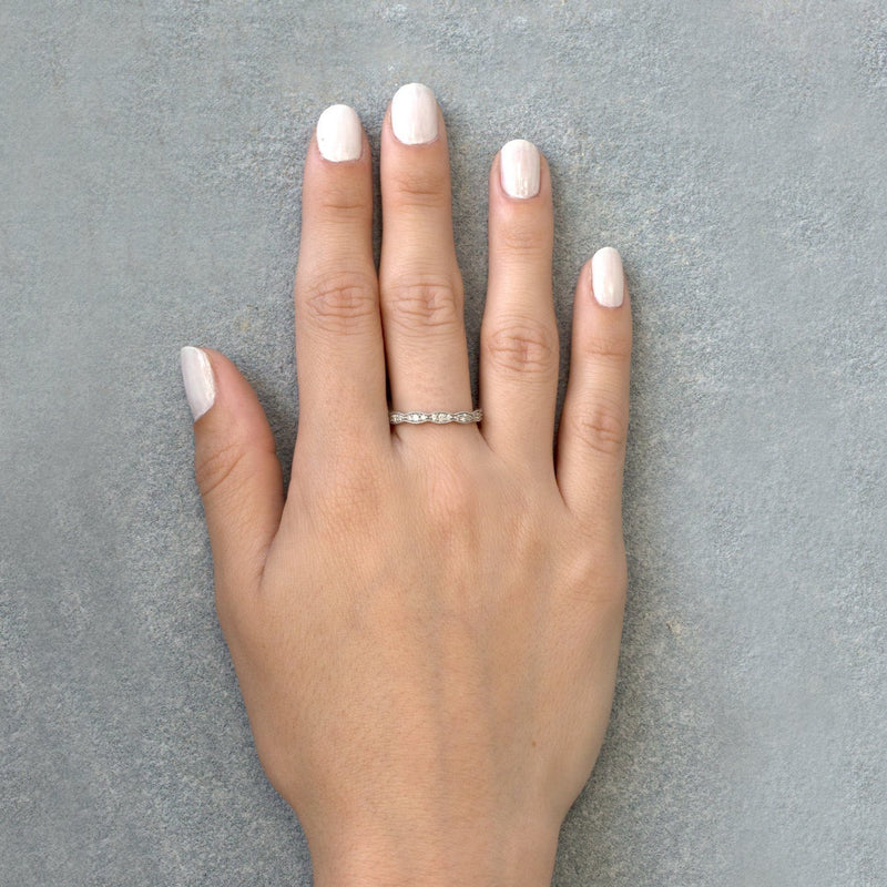 white gold dainty ring
