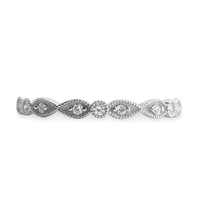 white gold elegant eternity ring