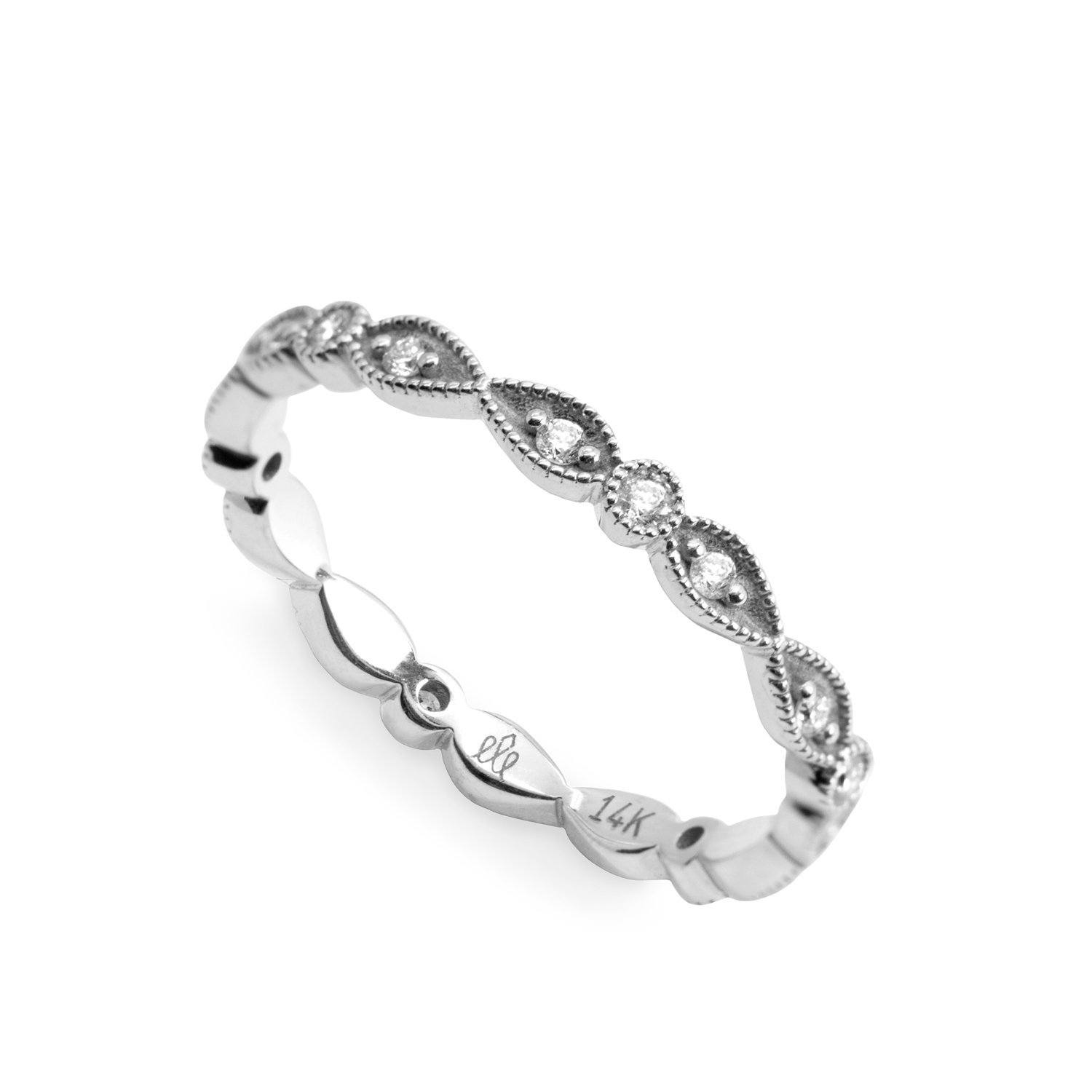 elegant eternity white gold ring