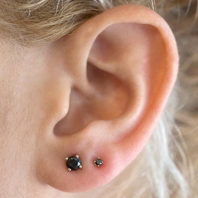 perfect gift black diamond earrings