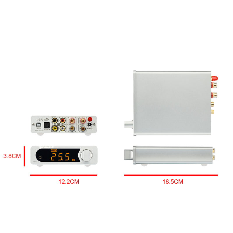TOPPING MX3 TDA7498E MINI Multifunction Bluetooth Digital Hifi audio Amplifier 40w * 2 USB Coaxial Fiber Decoder Amplifiers