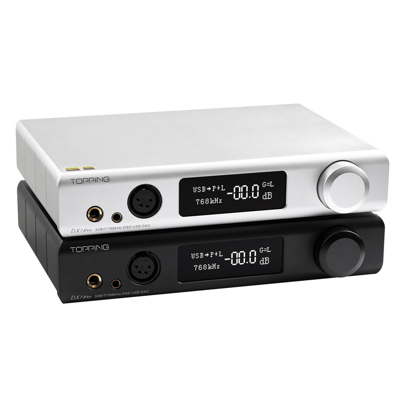 TOPPING DX7PRO ES9038PRO USB DAC XMOS XU208 headphone amp CSR8675 Bluetooth 5.0 LDAC DSD1024 32BIT 768kHz