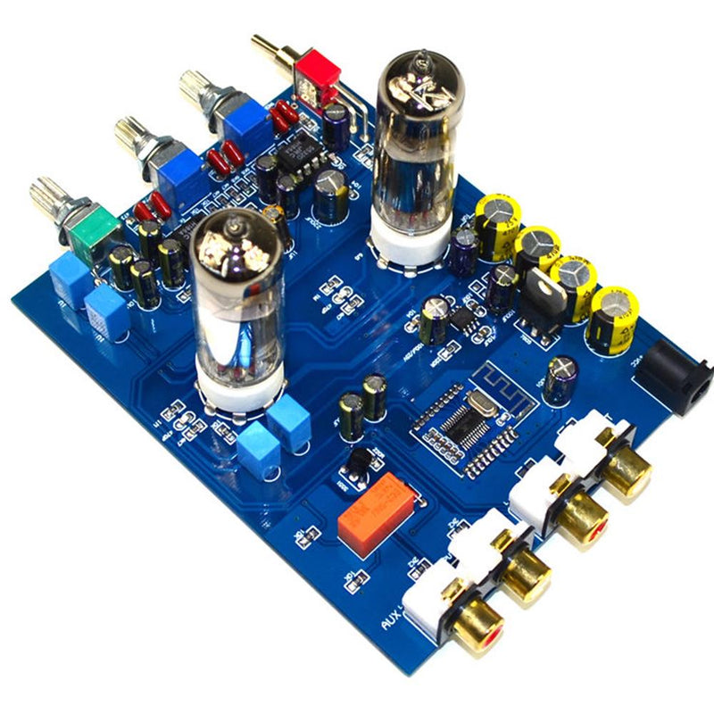 HIFI bile preamp 6J5 bile preamp 4.2 Bluetooth tone board JRC5532 audio Preamplifier tube amplifier