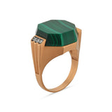 DEEP SEA MALACHITE DIAMOND RING