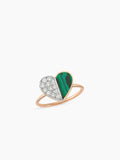 DEEP SEA HEART MALACHITE RING
