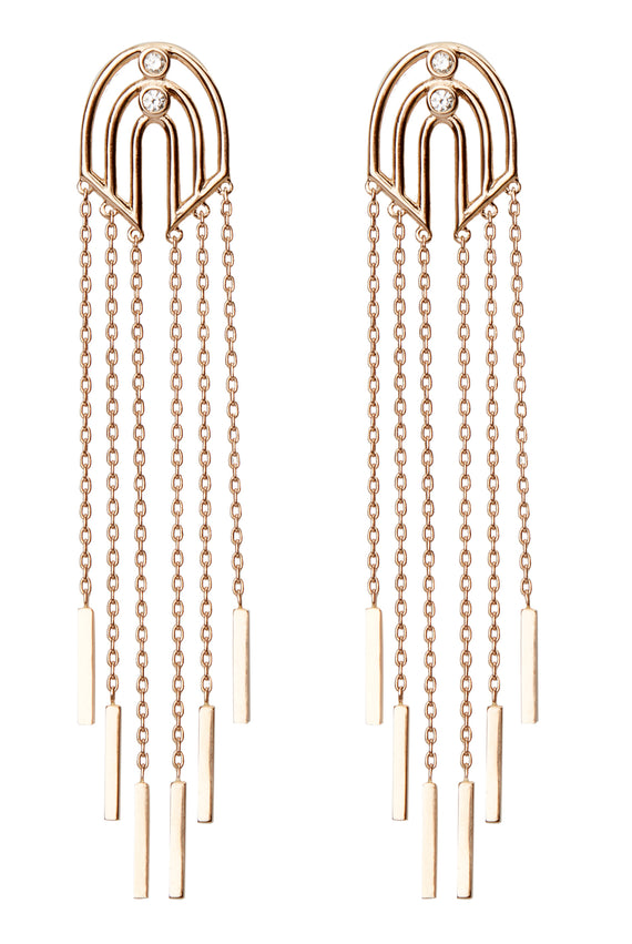 GEOMETRIA CHAIN EARRINGS