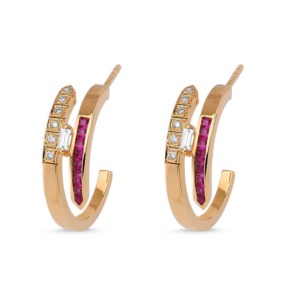 LOVE RUBY ETERNITY HOOP EARRINGS