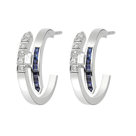 LOVE SAPPHIRE ETERNITY HOOP EARRINGS