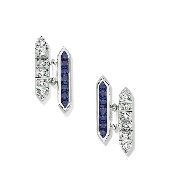 LOVE SAPPHIRE & DIAMOND EARRINGS