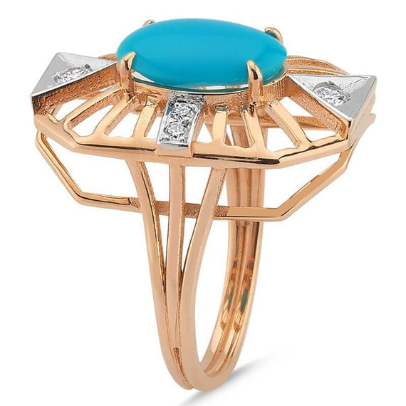 GEOMETRIA TURQUOISE & DIAMOND RING