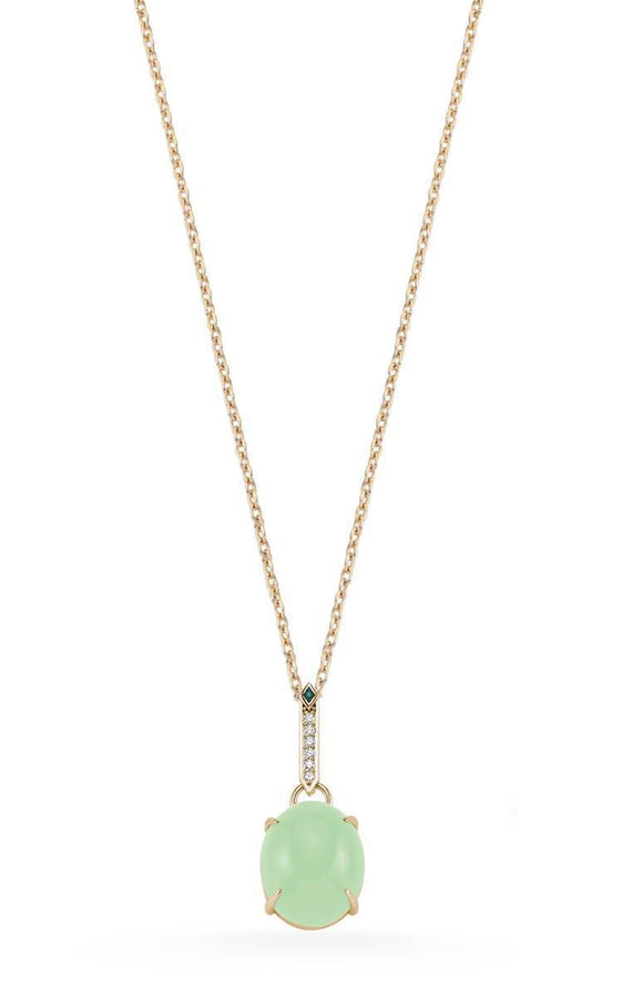 SKY DIAMOND EMERALD GREEN QUARTZ NECKLACE