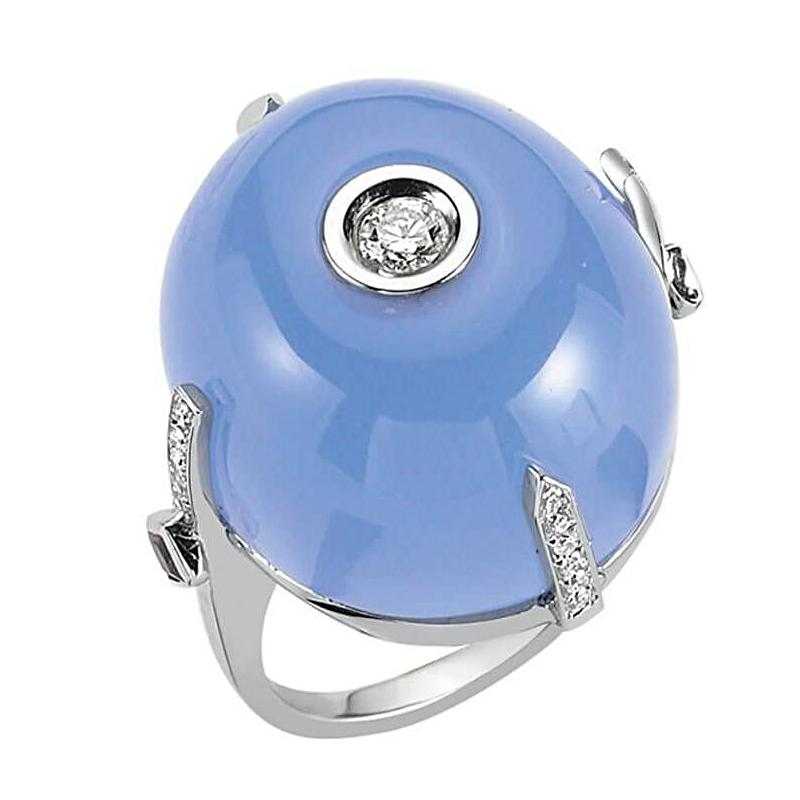 SKY DIAMOND SOLITAIRE BLUE MOON RING