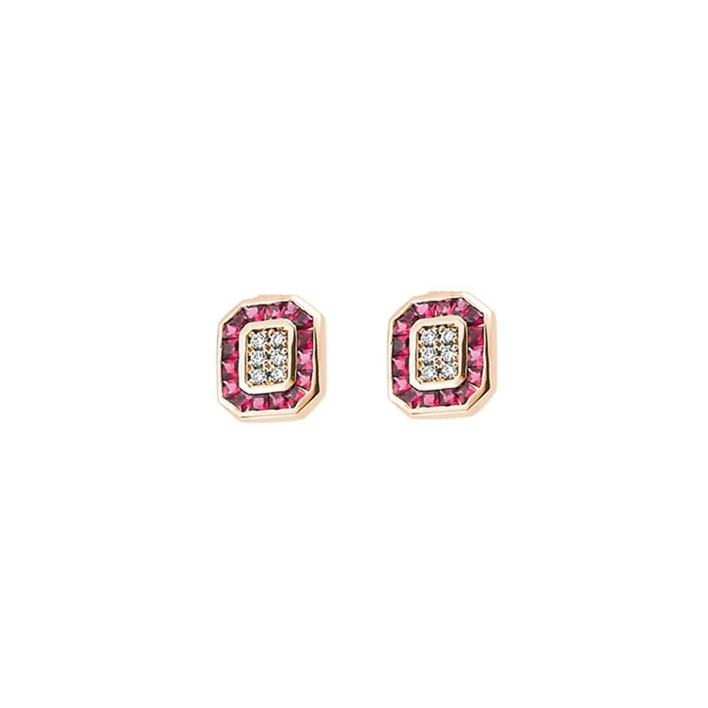 TRIO RUBY & DIAMOND EARRINGS