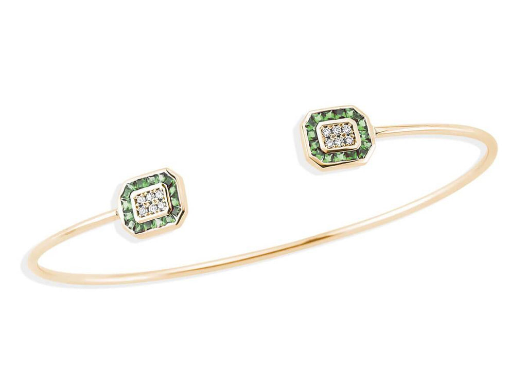 TRIO EMERALD & DIAMOND BRACELET
