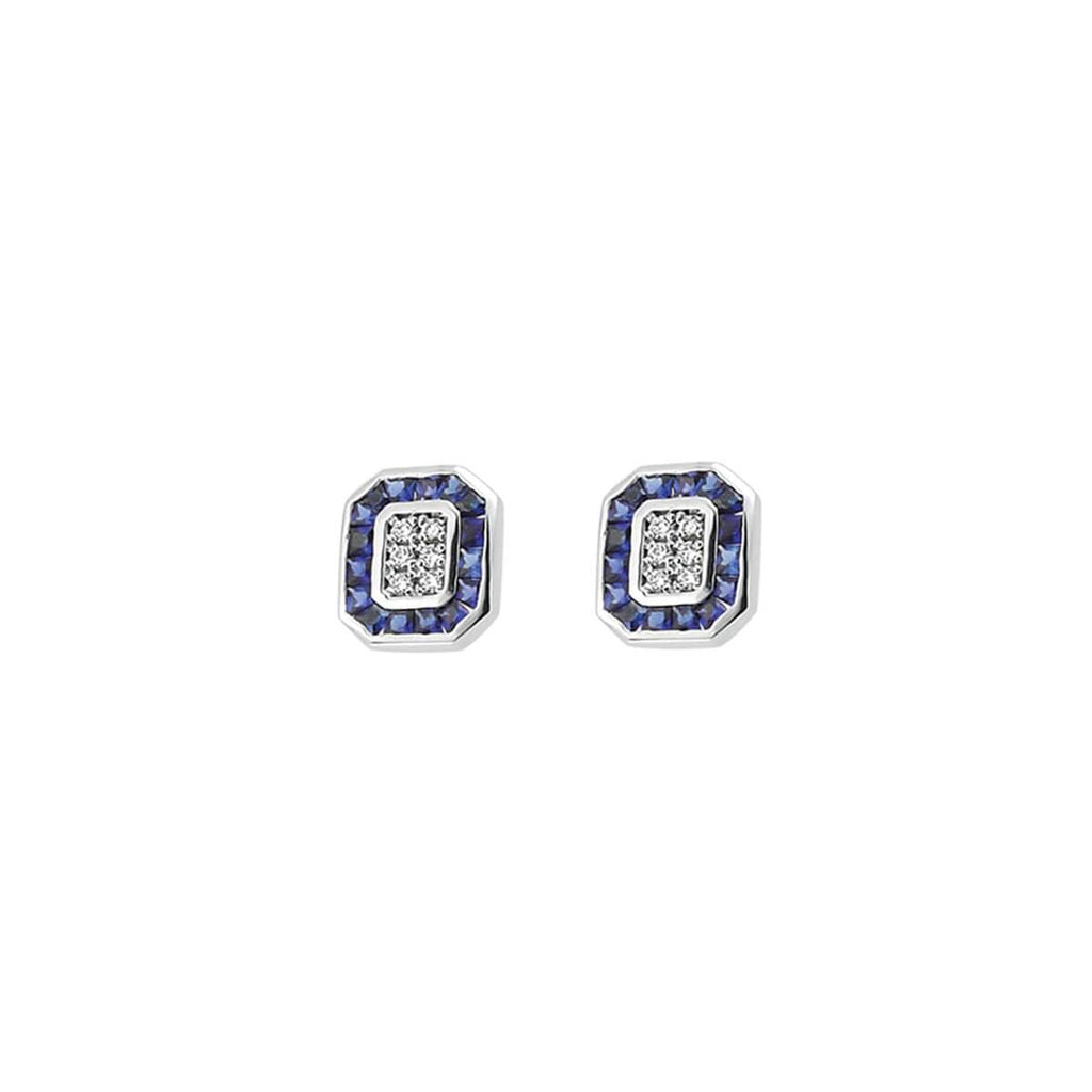 TRIO SAPPHIRE & DIAMOND EARRINGS