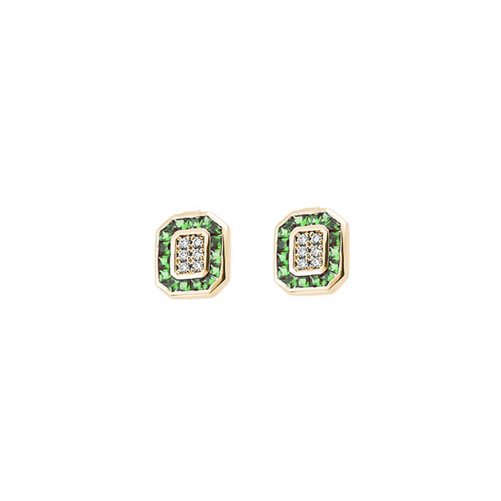 TRIO EMERALD & DIAMOND EARRINGS